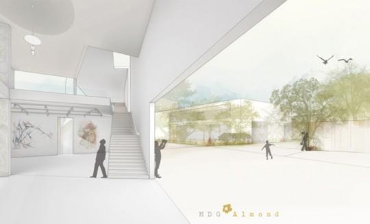 Acceso Museo-Proyecto Esculturas del Vacío